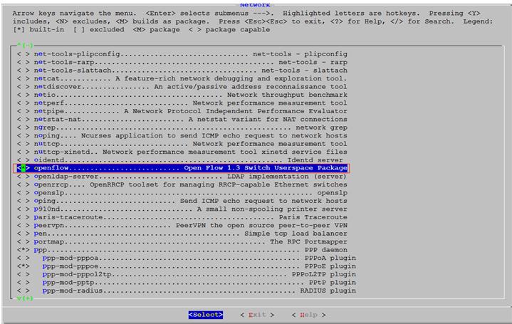 选择编译的OpenFlow的套件2