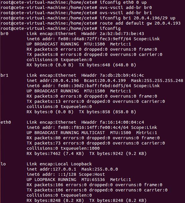 基于Open vSwitch的VxLAN隧道实验网络 预先配置 图4
