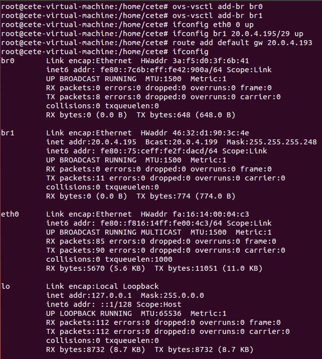 基于Open vSwitch的VxLAN隧道实验网络 预先配置 图7