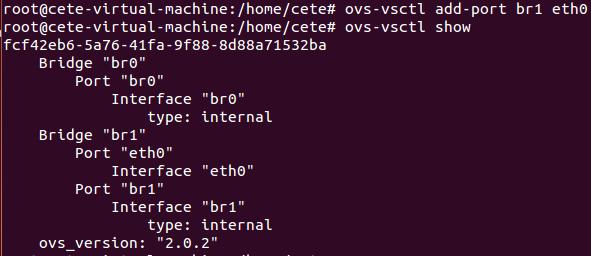 基于Open vSwitch的VxLAN隧道实验网络 预先配置 图9