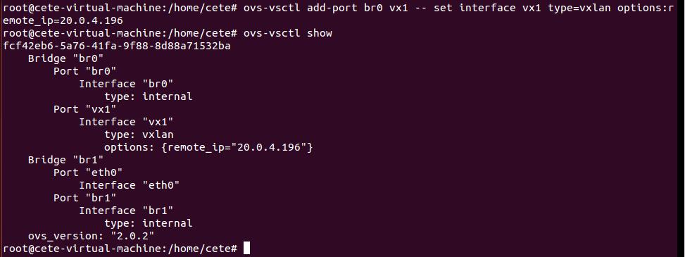 基于Open vSwitch的VxLAN隧道实验网络 4.5 图5
