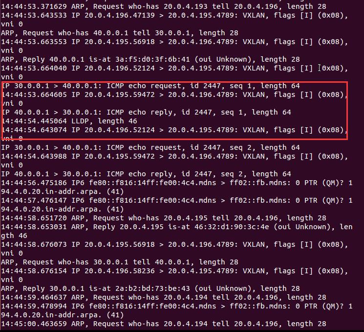 基于Open vSwitch的VxLAN隧道实验网络 4.5 图9