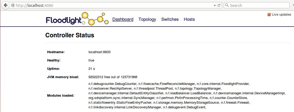 解决Floodlight1.2+Mininet问题及使用安装